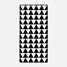 Black And White Triangles, Beach Towel