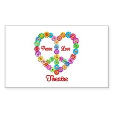 Theatre Peace Love Decal
