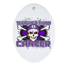 Pancreatic Cancer Tough Ornament (Oval)