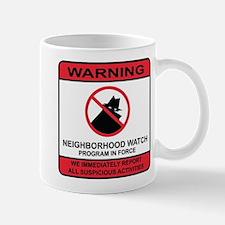 Neighborhood Crime Watch Warning Mug