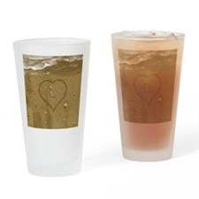 L Beach Love Drinking Glass