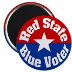 Colorado Red State Blue Voter Magnet