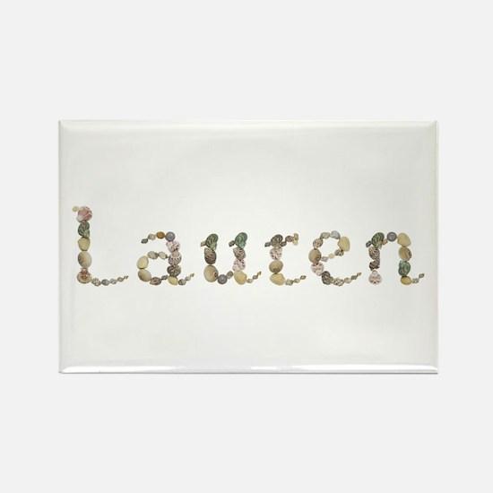 Lauren Seashells Rectangle Magnet
