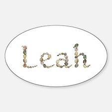 Leah Seashells Oval Decal