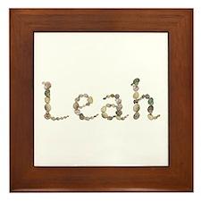Leah Seashells Framed Tile