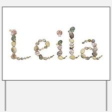 Leila Seashells Yard Sign