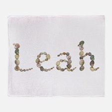 Leah Seashells Throw Blanket