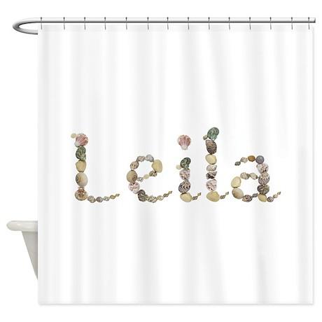Leila Seashells Shower Curtain By Namestuff Shells Jl