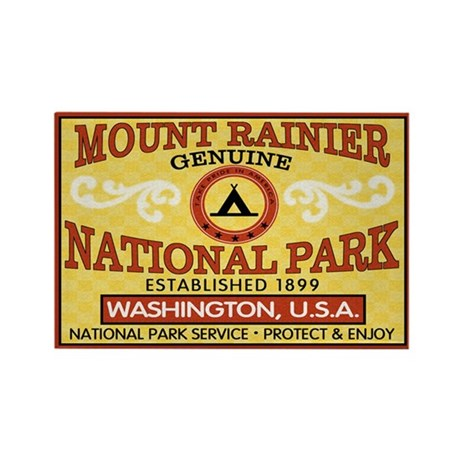Mount Rainier NP Rectangle Magnet (100 pack)