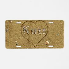 Kurt Beach Love Aluminum License Plate