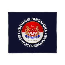 Singapore Coa Throw Blanket