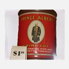 Prince Albert in a can Throw Blanket