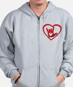 ILY with all my heart Zip Hoodie