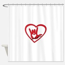 ILY with all my heart Shower Curtain