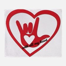 ILY with all my heart Throw Blanket