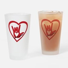 ILY with all my heart Drinking Glass