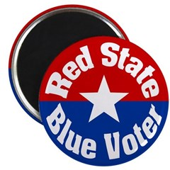 Oklahoma Red State Blue Voter Magnet