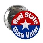 Oklahoma Red State Blue Voter Button