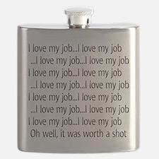 I love my job Flask