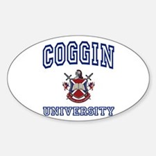 COGGIN University Oval Decal