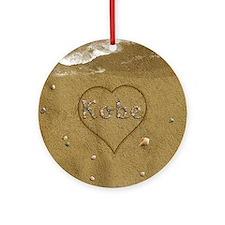Kobe Beach Love Ornament (Round)