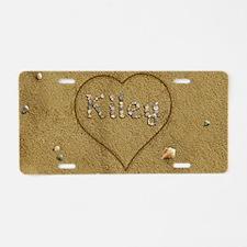 Kiley Beach Love Aluminum License Plate