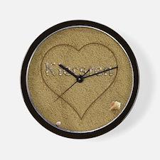 Kiersten Beach Love Wall Clock