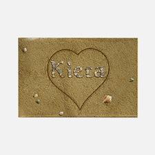 Kiera Beach Love Rectangle Magnet