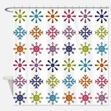 Cute Christmas patterns Shower Curtain