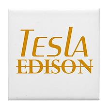 Nikola Tesla Edison Tile Coaster
