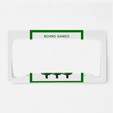 board games License Plate Holder