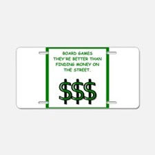 board games Aluminum License Plate
