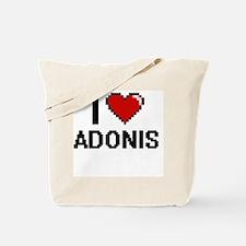 I Love Adonis Tote Bag