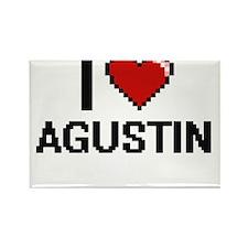 I Love Agustin Magnets
