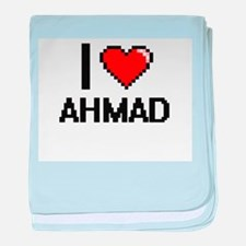 I Love Ahmad baby blanket