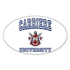 CARRIERE University Oval Decal