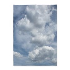 White Fluffy Clouds and Blue Sky 5'x7'Area Rug