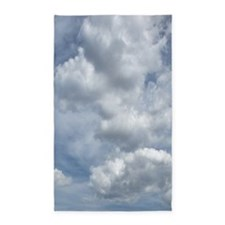 White Fluffy Clouds and Blue Sky Area Rug
