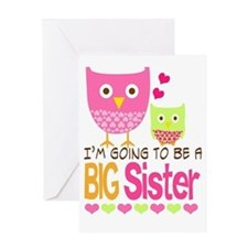 Big Sister Baby Owls I'm Going to be Greeting Card