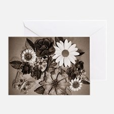 Daisy Crazy Black and White Greeting Card