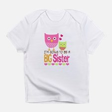 Big Sister Baby Owls I'm Going to b Infant T-Shirt