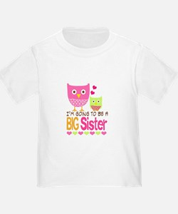 Big Sister Baby Owls I'm Going to be a Big T-Shirt