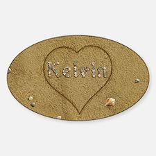 Kelvin Beach Love Sticker (Oval)