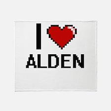I Love Alden Throw Blanket