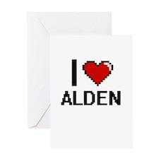 I Love Alden Greeting Cards