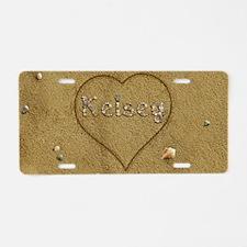 Kelsey Beach Love Aluminum License Plate