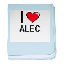 I Love Alec baby blanket