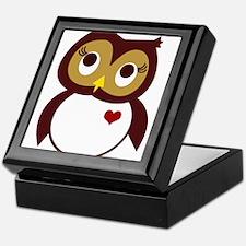 Unique Red owl Keepsake Box