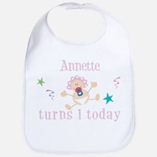 Annette turns 1 today Bib