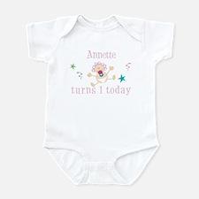 Annette turns 1 today Infant Bodysuit